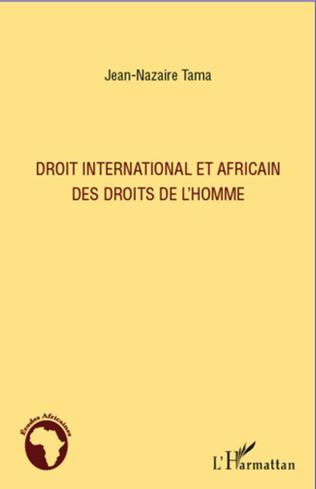 Couverture Droit international et africain des droits de l'homme