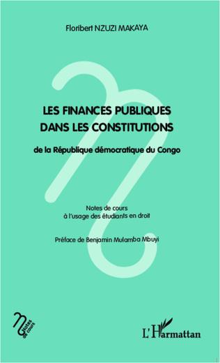 Couverture Les finances publiques dans les constitutions