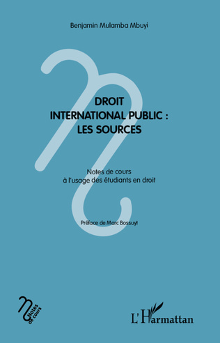 Couverture Droit international public : les sources