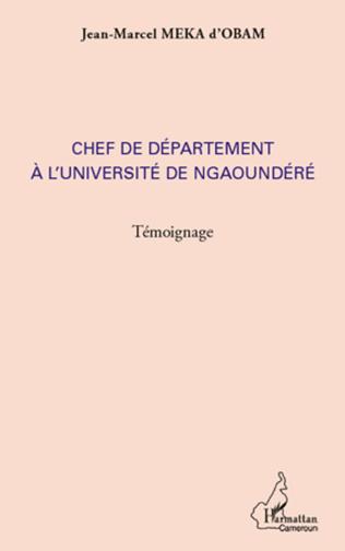 Couverture Chef de département à l'université de Ngaoundéré