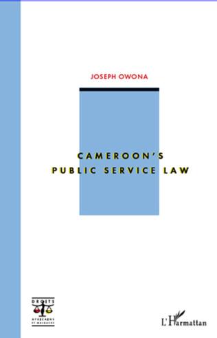 Couverture Cameroon's public service law