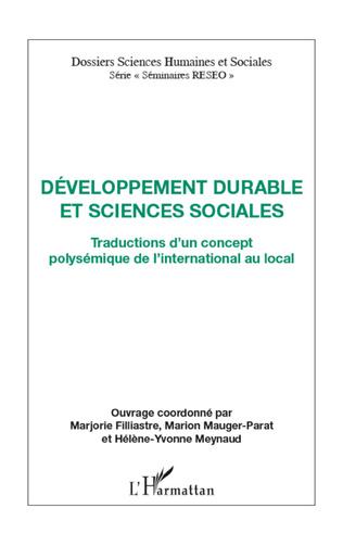 Couverture Développement durable et sciences sociales