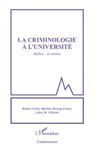 Couverture Criminologie à l'université