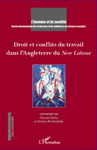 Couverture Droit et conflits du travail dans l'Angleterre du <em>New Labour</em>