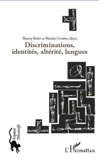 Couverture Discriminations, identités, altérité, langues