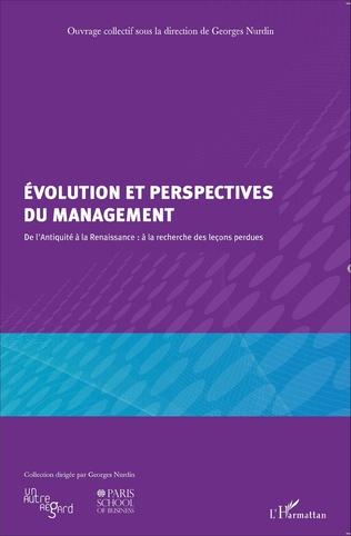 Couverture Evolution et perspectives du management