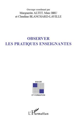 Couverture Observer les pratiques enseignantes