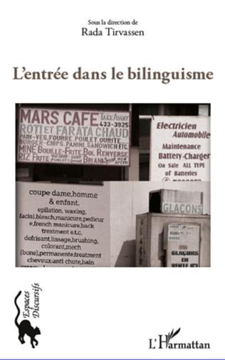 Couverture L'entrée dans le bilinguisme