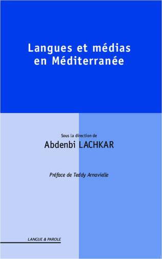 Couverture Langues et médias en Méditerranée