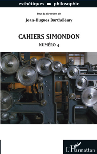 Couverture Cahiers Simondon