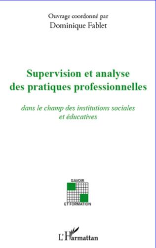 Couverture Supervision et analyse des pratiques professionnelles