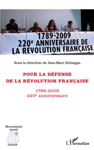 Couverture Pour la défense de la Révolution française