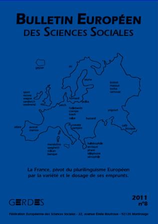 Couverture Bulletin Européen des Sciences Sociales 8