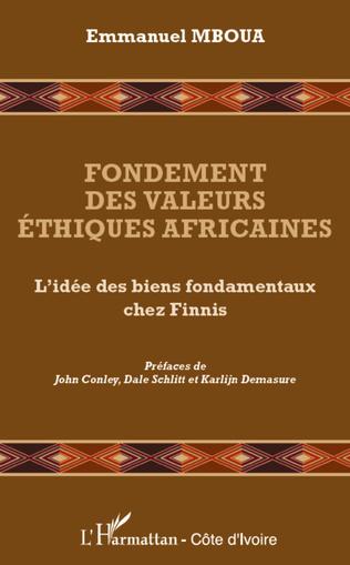 Couverture Fondement des valeurs éthiques africaines