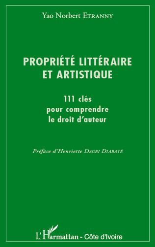 Couverture Propriété littéraire et artistique