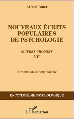 Couverture Nouveaux écrits populaires de psychologie