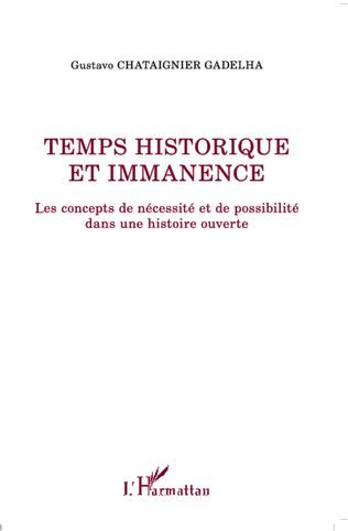 Couverture Temps historique et immanence
