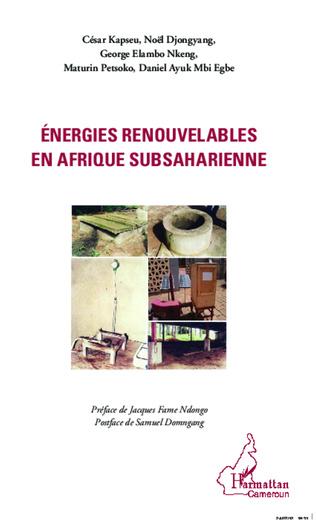 Couverture Energies renouvelables en Afrique subsaharienne