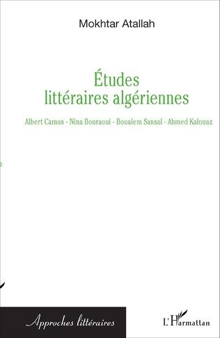 Couverture Etudes littéraires algériennes