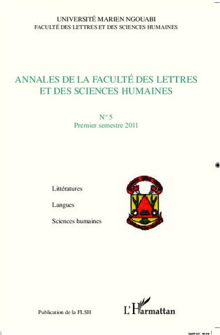Couverture Annales de la faculté des lettres et des sciences humaines n° 5 premier trimestre 2011