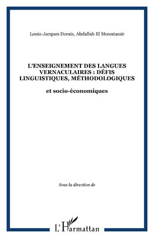 Couverture L'enseignement des langues vernaculaires : défis linguistiques, méthodologiques