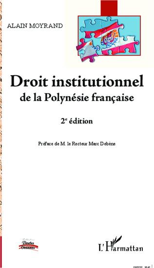Couverture Droit institutionnel de la Polynésie française (2e édition)