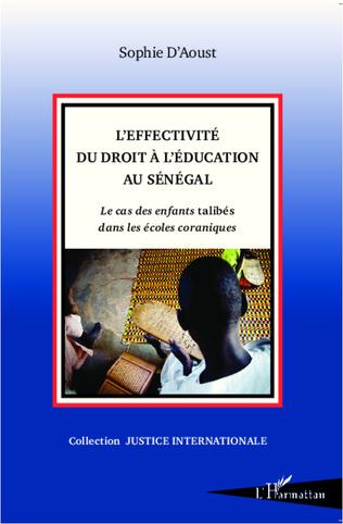 Couverture L'effectivité du droit à l'éducation au Sénégal