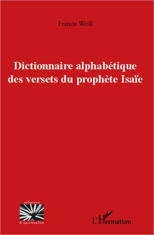 Couverture Dictionnaire alphabétique des versets du prophète Isaïe