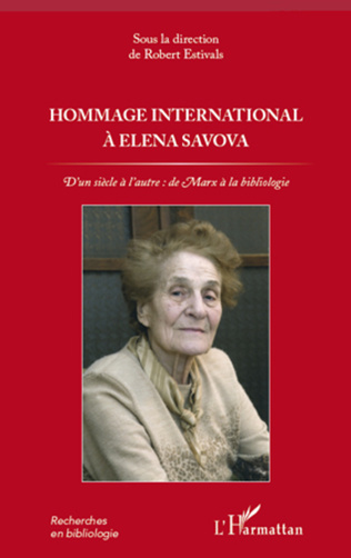 Couverture Hommage international à Elena Savova