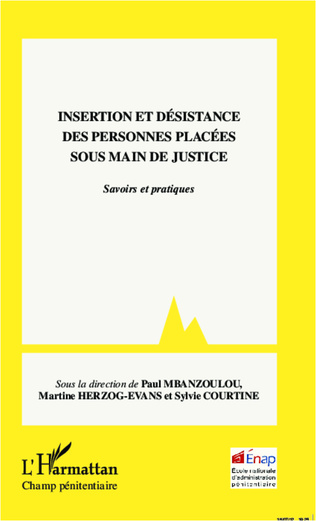 Couverture Insertion et désistance des personnes placées sous main de justice