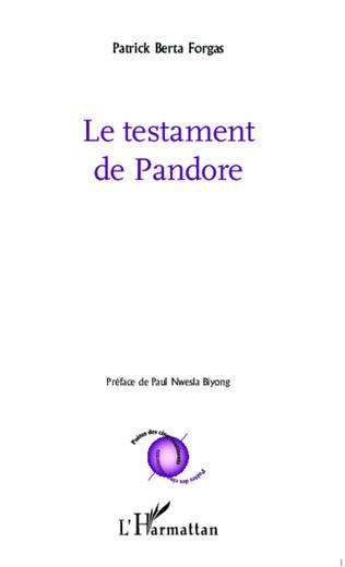 Couverture Le testament de Pandore