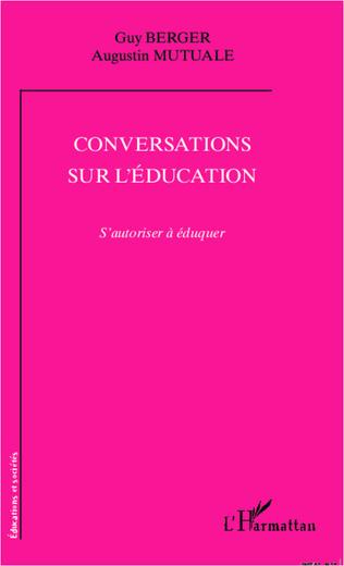 Couverture Conversations sur l'éducation