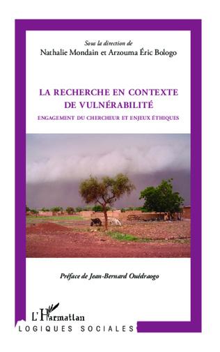 Couverture La recherche en contexte de vulnérabilité