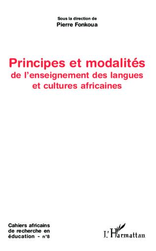Couverture Principes et modalités de l'enseignement des langues et cultures africaines