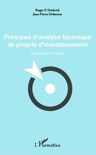 Couverture Principes d'analyse technique de projets d'investissement