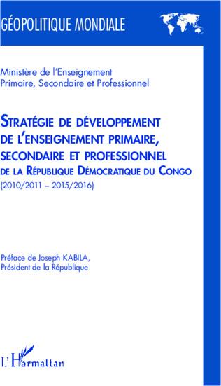 Couverture Stratégie de développement de l'enseignement primaire, secondaire et professionnel
