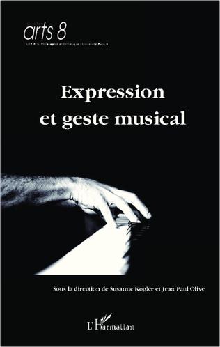 Couverture Expression et geste musical