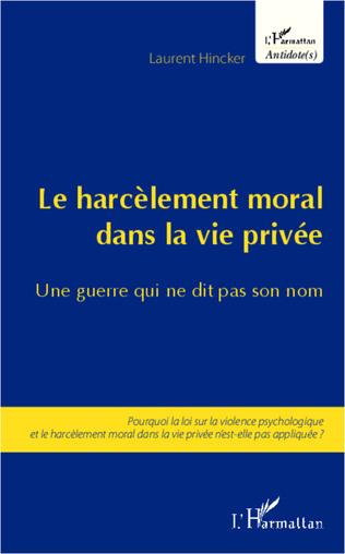 Couverture Harcèlement moral dans la vie privée