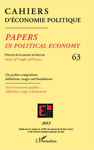 Couverture On perfect competition : definitions, usages and foundations