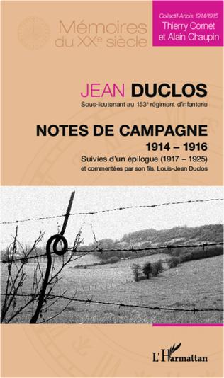 Couverture Notes de campagne (1914-1916), suivies d'un épilogue (1917-1925)