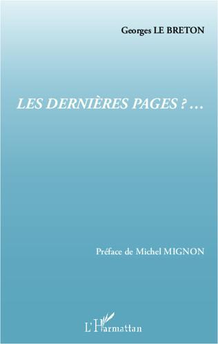 Couverture Les dernières pages