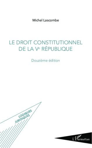 Couverture Droit constitutionnel de la Ve République
