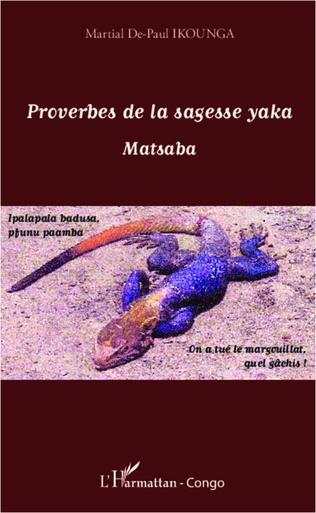 Couverture Proverbes de la sagesse yaka
