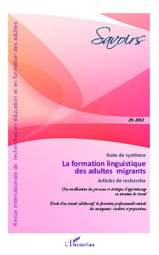 Couverture La formation linguistique des adultes migrants