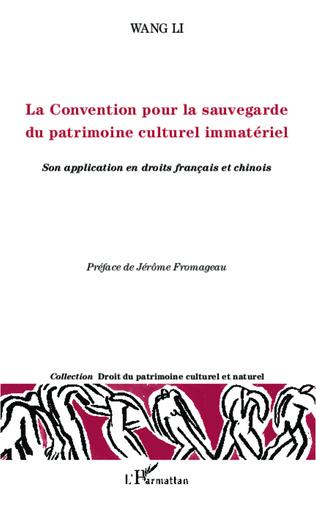 Couverture La Convention pour la sauvegarde du patrimoine culturel immatériel