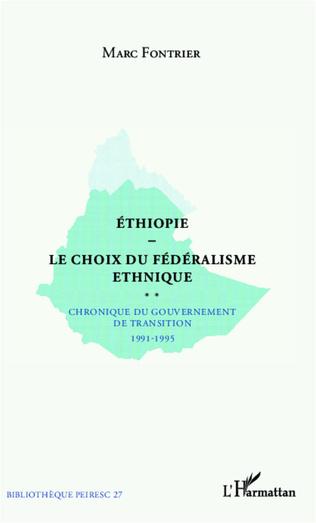 Couverture Ethiopie le choix du fédéralisme ethnique