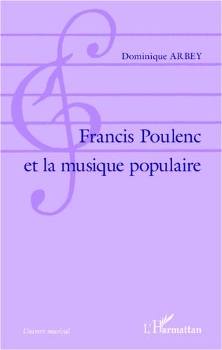 Couverture Francis Poulenc et la musique populaire