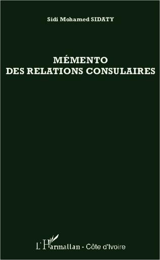 Couverture Mémento des relations consulaires