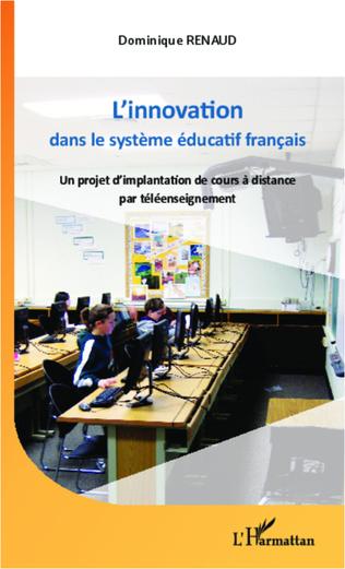 Couverture L'innovation dans le système éducatif français