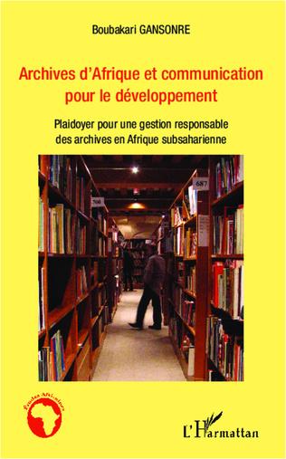 Couverture Archives d'Afrique et communication pour le développement